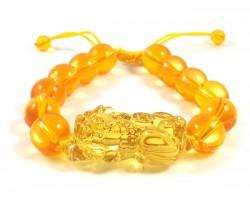 Yellow Crystal Piyao Adjustable Bracelet
