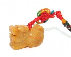 Family Pack 4 Pieces -Yellow Jasper Pi Yao Lucky Charm