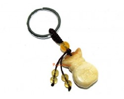 Yellow Jasper Wealth Bag Feng Shui Keychain