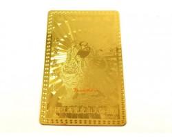 Zhang Tian Shi Taoist Deity Amulet Metal Card