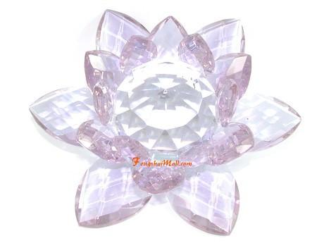 Crystal feng shui lotus flower light purple feng shui crystal crystal feng shui lotus flower light purple mightylinksfo