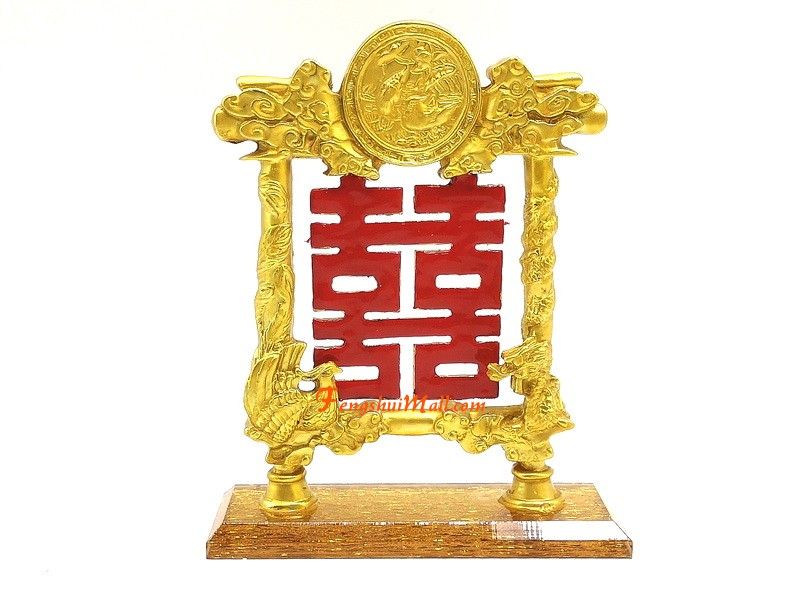Double Happiness Plaque Feng Shui For Love Luck