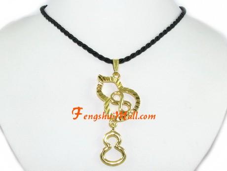 Double Wu Lou With Infinity Symbol Pendant Feng Shui Health