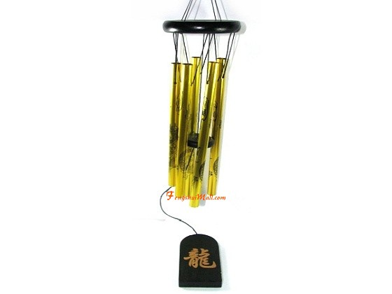 5 Metal Rod Dragon Wind Chime Feng Shui Windchime