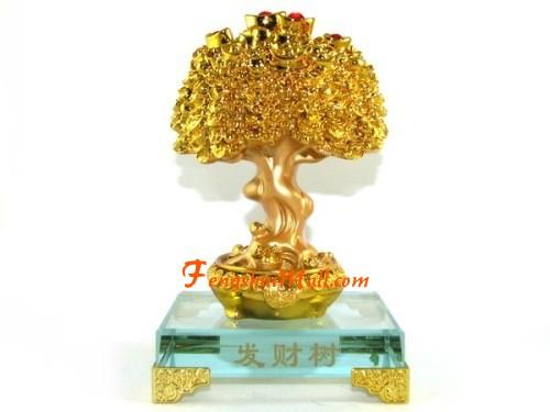 gold ingots and coins laden feng shui tree feng shui for wealth. Black Bedroom Furniture Sets. Home Design Ideas