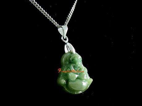 Green jade laughing buddha pendant feng shui jewelry green jade laughing buddha pendant aloadofball Choice Image