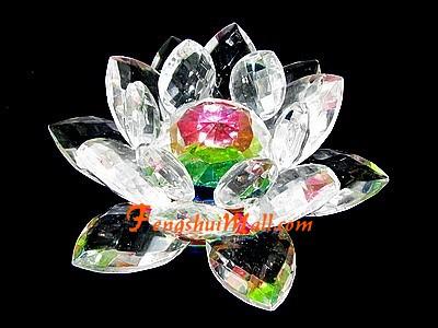 feng shui crystal lotus flower fengshui enhancer