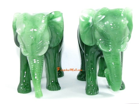 Pair Of Elephants With Trunks Down Descendants Luck
