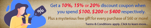 Feng Shui Mall Promotion - Discount Coupon with Purchase