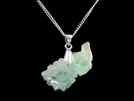 Jade Chinese Horoscope Animal Pendant - Dragon