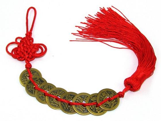 8 coins feng shui tassels feng shui store - Feng shui mobel ...