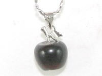 Smoky Quartz Apple Pendant
