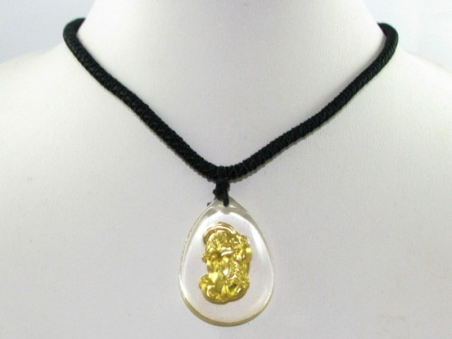 Golden Piyao Pendant with Adjustable Necklace for Gambling Luck Pi Xiu