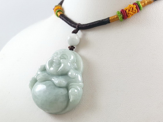 Jade laughing buddha pendant with ad end 1102019 550 pm feng shui best buy online feng shui store aloadofball Image collections