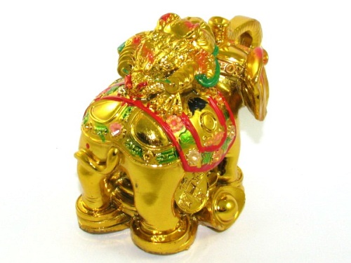 Money Frog on Elephant for Wealth Luck & Promotional Luck - 3 Leg Toad
