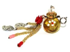 Murano Glass Perfume Bottle Pendant