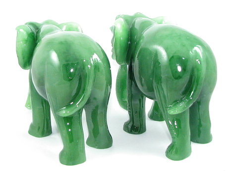 Pair of elephants with trunks down end 6 30 2018 5 18 pm - Feng shui elephant placement ...