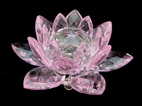 crystal feng shui lotus flower pink feng shui shop ebay. Black Bedroom Furniture Sets. Home Design Ideas