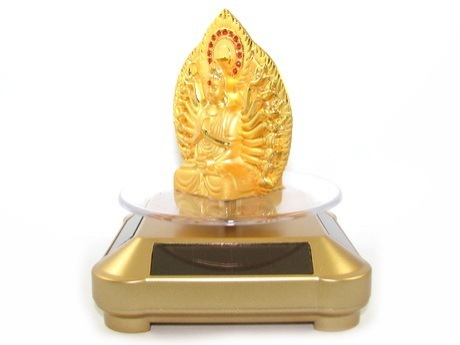 Solar Powered Rotating 1000 Arms Kuan Yin for Protection in your Car