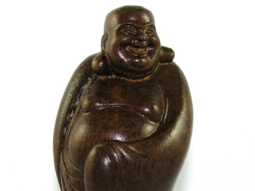 Standing Wood Laughing Buddha Statue to Take your Stress Away