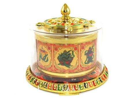 Table Top Mani Prayer Wheel, Hand Spun for Good Blessings