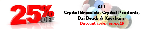 Feng Shui Mall Promotion - 25% Discount on Bracelets, Keychains and Dzi Beads