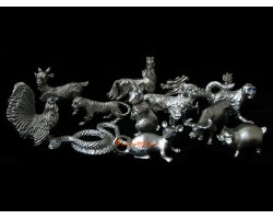 Pewter 12 Chinese Horoscope Animals