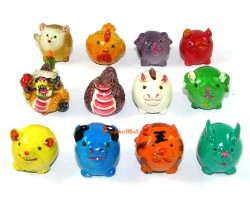 12 Colorful Chinese Horoscope Animals