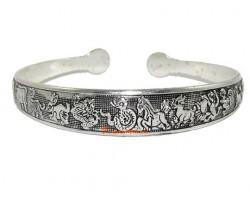 Chinese 12 Horoscope Cuff Bracelet