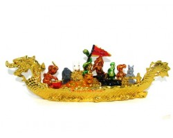 12 Chinese Horoscope Animals on Boat