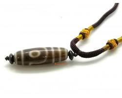 2 Eye Tibetan Old Dzi bead Pendant