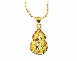 22k Gold Plated Wu Lou Pendant for Good Health