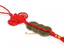 Three Feng Shui Coins Tassel