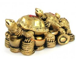 Feng Shui Three-Tier Fuk Luk Sau Tortoise