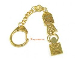 Five-Element Feng Shui Pagoda Keychain