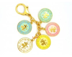 5 Elements Mirror Amulet Keychain (Pastel)