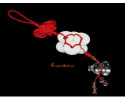 6 White Jade Coins with Wu Lou Hanging