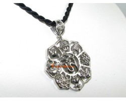 8 Auspicious Objects with Om Pendant (Silver)