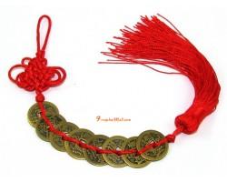 8 Coins Feng Shui Tassel