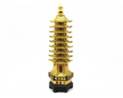 9 Level Golden Feng Shui Pagoda (XL)