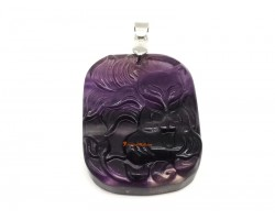 9 Tailed Fox Fluorite Pendant for Marriage Protection