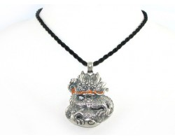 925 Silver Feng Shui Dragon for Success Pendant