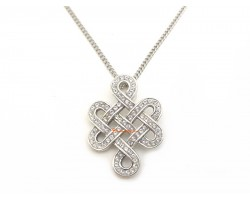 925 Silver Mystic Knot Pendant with Swarovski Crystals