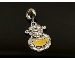925 Silver Wealth God Pendant with Meteorite