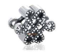 925 Sterling Silver Mystic Knot Charm Bead
