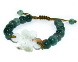Adjustable Jade Mystic Knot Bracelet