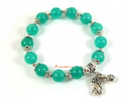 Amazonite Bracelet with Pi Yao and Wu Lou