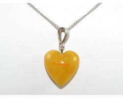 Amber Heart Shape Pendant