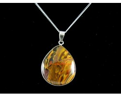 Amber Crystal Pendant