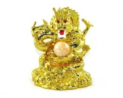 Ambitious Golden Dragon with Clear Ball